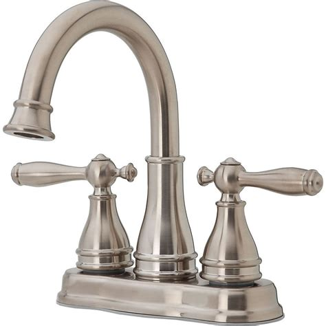 Price Phister Faucet by Price Pfister F Wl2 450k Sonterra Brushed Nickel Two Handle Centerset Bathroom Faucets