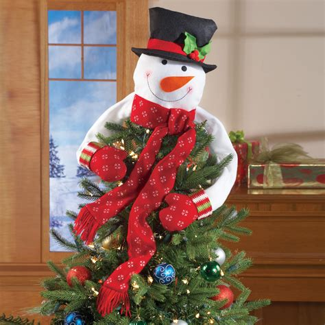 how to make a snowman tree hugger frosty the snowman plush top of the tree hugger tree topper