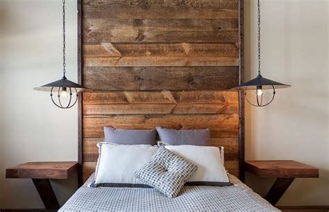 Simple Headboard Ideas by Simple Wooden Planks Headboard Ideas Bedroom Home Inspiring
