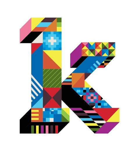 letter k type design by dan agostino typography design