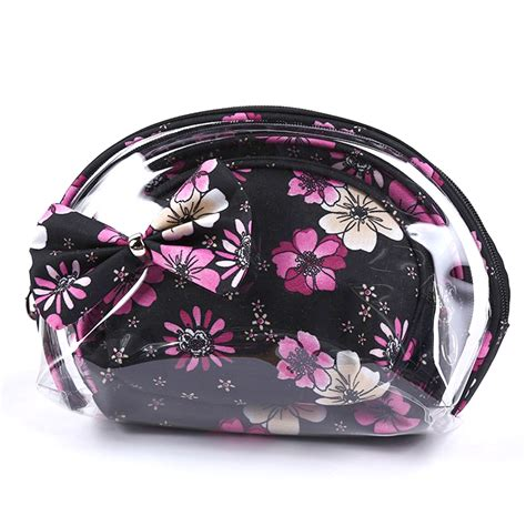 Tas Makeup Mini tas pouch makeup kosmetik waterproof 3 in 1 black