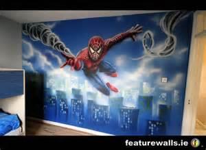 Spiderman wall murals for kids spiderman wall mural children fantasy
