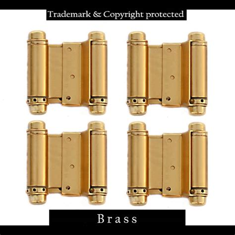 hinges for swinging doors double acting spring hinges 3 quot brass 4pk set swinging