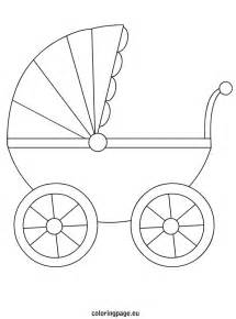 free coloring pages baby carriage