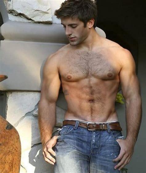 Shirtless Male Beefcake Hunk Beard Chest Hair Muscle Stud