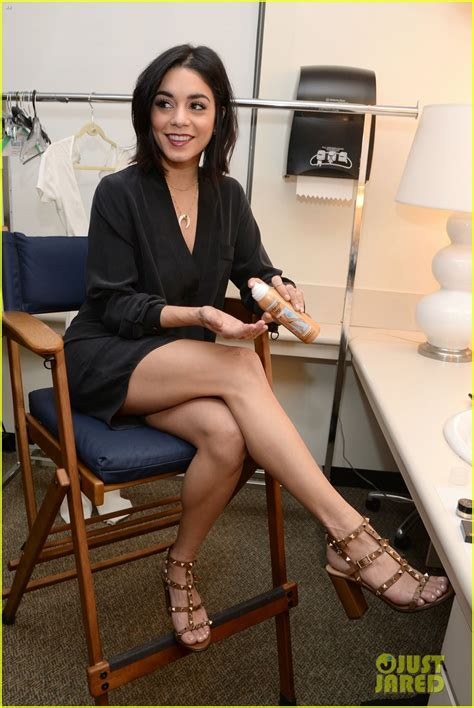 vanessa hudgens legs look perfect backstage at abc