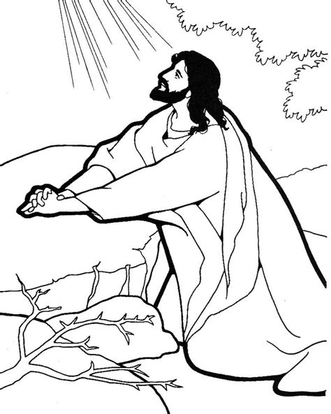 Coloring Pictures Of Jesus Praying | jesus praying coloring page google search catechist