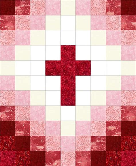 quilt pattern cross cross christian red pre cut quilt kit beautiful baby