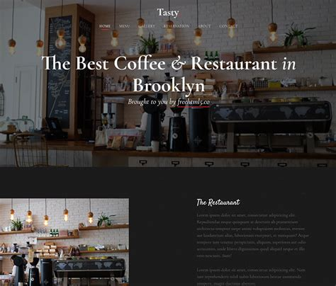 bootstrap templates for restaurant free download download now free bootstrap template for food and restaurant
