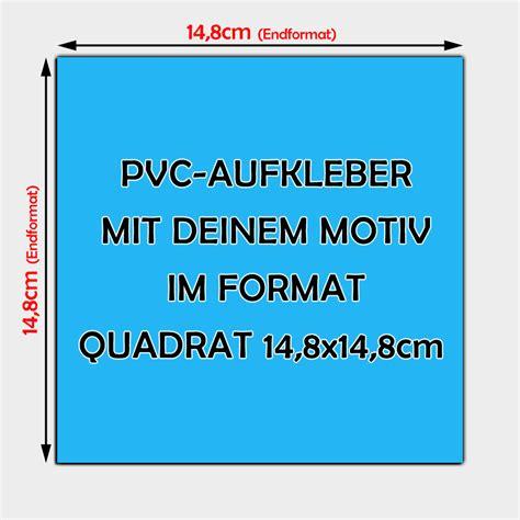 Aufkleber Drucken Quadratisch by Quadratische Pvc Folien Aufkleber 14 8 X 14 8cm