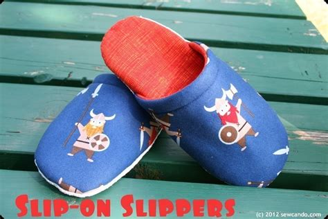 pattern fabric slippers slip on slippers 183 how to sew a pair of fabric slippers