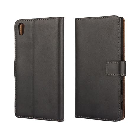 Wallet Leather Sony Z5 by Sony Xperia Z5 Leather Wallet Black
