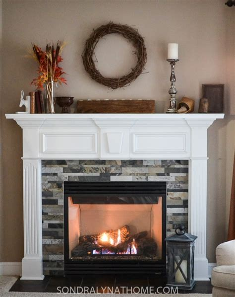 Easy Peel and Stick Stone Fireplace Surround   Sondra Lyn