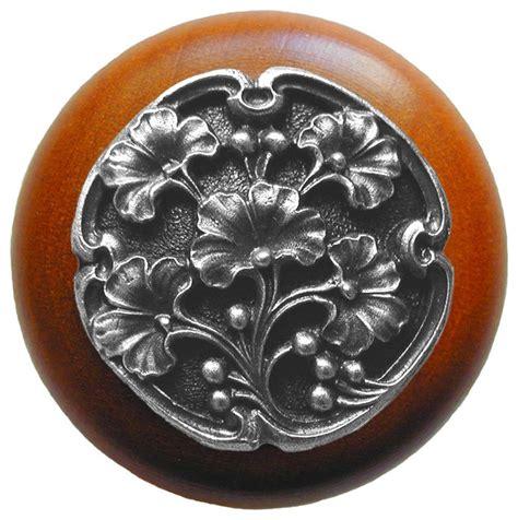 notting hill ginkgo berry cherry wood knob antique