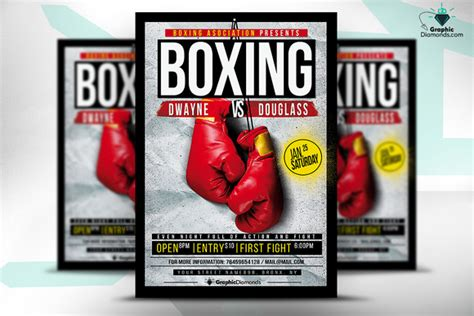 boxing psd flyer free direct download 187 designtube