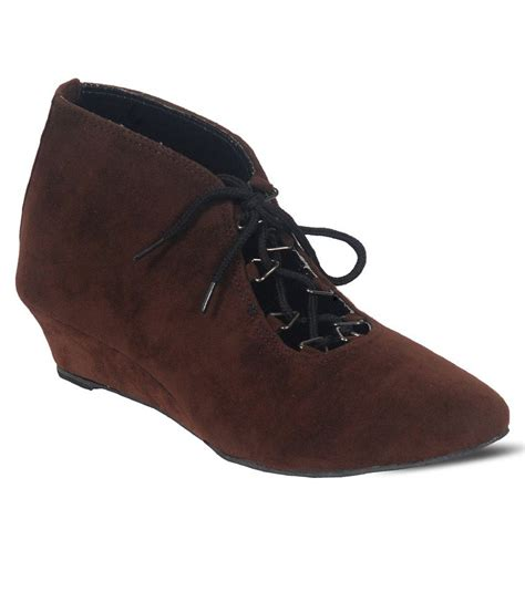 C 328 Footwear Color Brown Size 36 40 harshit footwear brown medium heeled casual shoes buy s casual shoes snapdeal