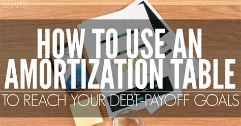 how to do an amortization table how to use an amortization table to reach your debt payoff