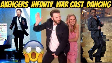 aaron taylor johnson infinity war avengers infinity war cast dancing ft chris evans rob