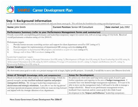 6 7 career development plan template proposalsheet com