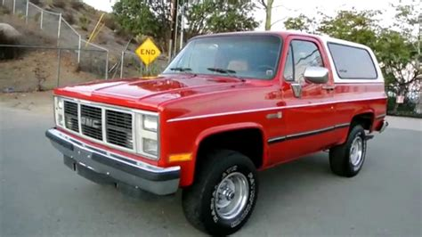gmc jimmy 1988 1988 gmc jimmy 4x4 apple red 1 owner fuel injected a c 4