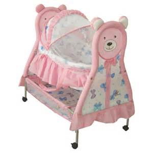 Portable Crib Bedding Set Adorable Girly Baby Bassinets Set Introducing Pink Movable