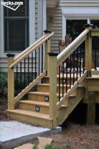 How To Stain Banister Grippable Handrails For Deck Stairs Joy Studio Design