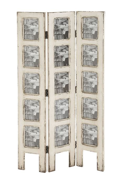 Shabby White Wash Distressed 15 Picture Photo Frame Room Divider Picture Frame