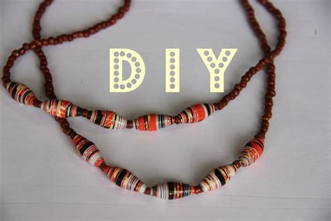 How To Make A Paper Bead Necklace - paper necklace tutorial
