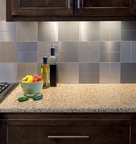 Stick On Backsplash For Kitchen Peel And Stick Backsplash Ideas For Your Kitchen Backsplash Ideas Kitchens And Stainless