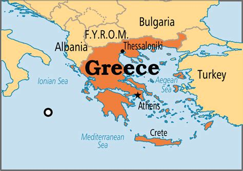 greece on map map of greece thinglink