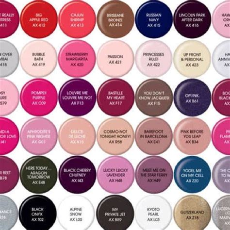 shellac nail colors by opi pedi opi
