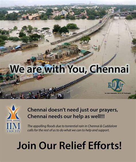 Iim Distance Learning Mba Chennai iim trichy collects aid for chennai floods insideiim