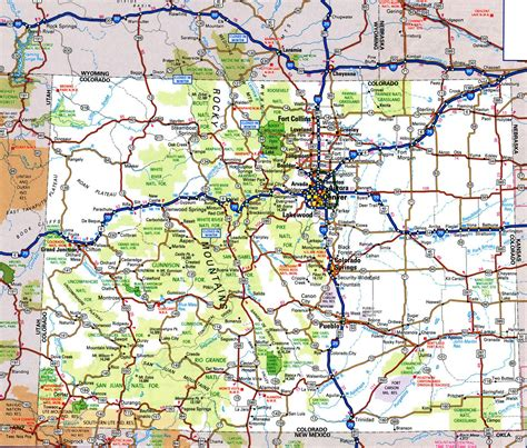 road map of road map of colorado hd pictures images and
