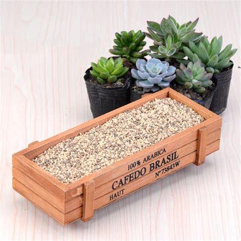succulent planter box new wood planter box garden yard rectangle flower