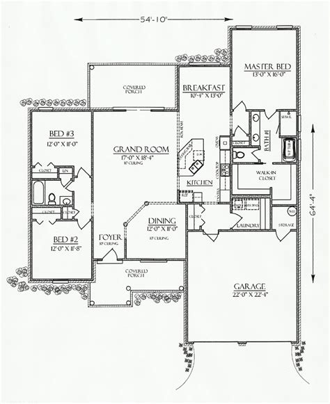 Southern Cottage Floor Plans Cottage Country Craftsman Southern House Plan 74720