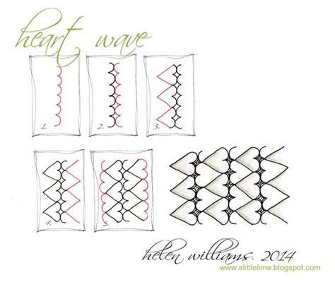 zentangle wave pattern heart wave step by step zentangle pattern zentangle