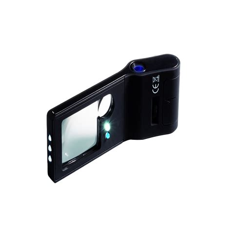 Lu Led Uv 6in1 multifunctional pocket magnifier with microscope uv