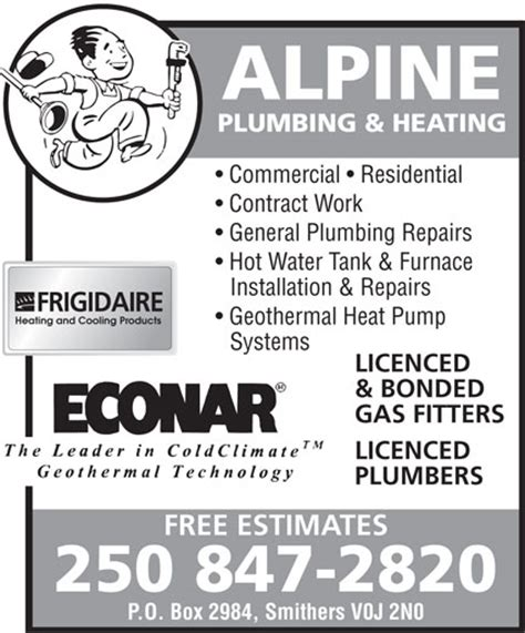 Alpine Plumbing by Alpine Plumbing Heating Smithers Bc 3560 Rosenthal