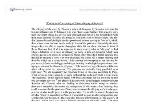 Analogy Of The Cave Essay by Plato S Allegory Of The Cave Essay Topics Mfacourses887 Web Fc2