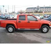 2008 Red Orange Metallic GMC Canyon SLE Crew Cab 4x4