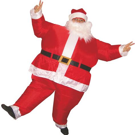 2015 hot inflatable christmas santa claus costume dress