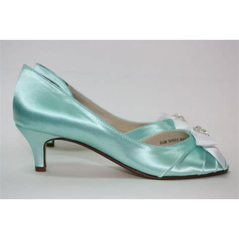 Turquoise Wedding Shoes by S Turquoise Wedding Shoes Satin Rhinestone Bow