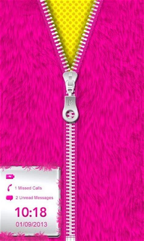 pink zipper wallpaper pink fur zipper lock screen xl app for android
