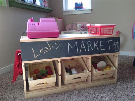 Kitchen Towel Craft Ideas by Ikea Trofast Hacked Into Kids Market Stand Ikea Hackers