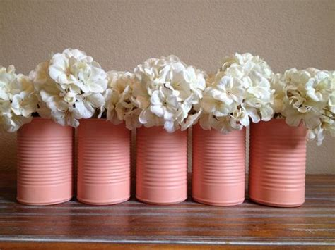 shabby chic vases wedding shabby chic pink wedding tin vase decor on etsy 5 00 or spray your own in your