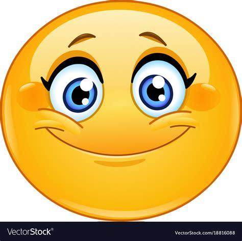 Smiling female emoticon Royalty Free Vector Image Emoticons Smile