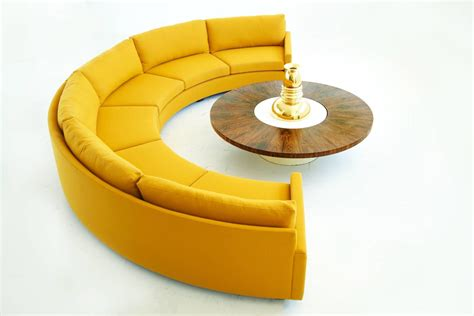 Semi Circle Sectional by Milo Baughman Semi Circle Sectional Sofa For Sale At 1stdibs