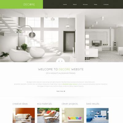 home design websites home decor website templates templatemonster