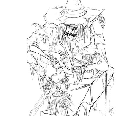 scarecrow coloring page pdf scarecrow s coloring pages batman tattoo coloring home