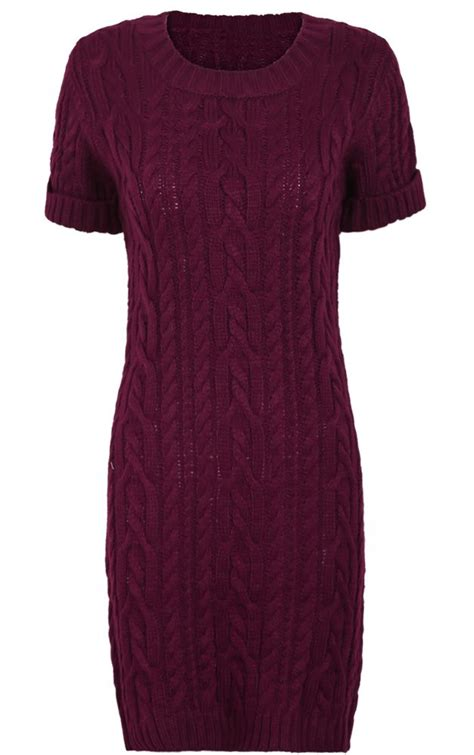 Cable Knit Sleeve Dress best 25 burgundy sweater dress ideas on